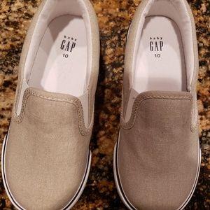 Toddler Boys Baby Gap Cream/Navy Shoes Size 10